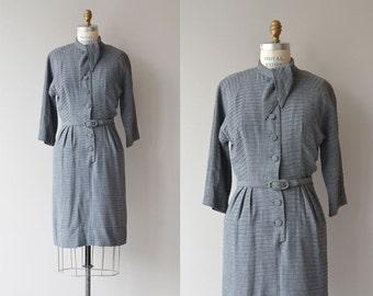 Lynton Library dress | vintage 50s dress • gray 1950s dress