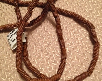 Copper BRAIDED SPRINGS African Copper Beads  Antique Copper Twisted Tubes