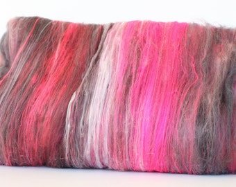 Powderpuff 4.6 oz  Wool - Merino- Art Batt // Wool Art Batt for spinning or needle felting