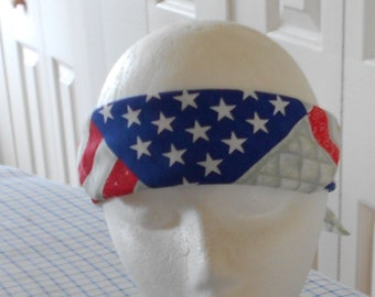 America Bandana - Patriotic Colors - Scarf - Red White Blue