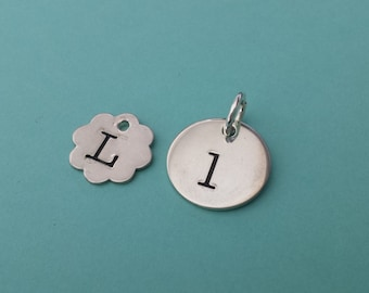 ONE Sterling Silver L Charm Pendant