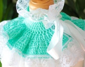 Victorian Fashion Collar with Lace - Mint - Spring Pastel