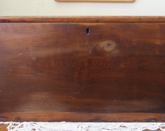 Early Small Hand Dovetailed Blanket Chest