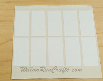 50 Pack 25mm x 50 mm Rectangle  Double Sided Adhesive Stickers, Pendant Tray Stickers, Jewelry Stickers (01-15-104)