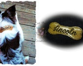 Dog collar  Slide Personalized - Cats too