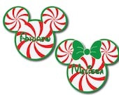 Christmas Peppermint Mouse Head Magnets for Disney Cruise Cabin Door