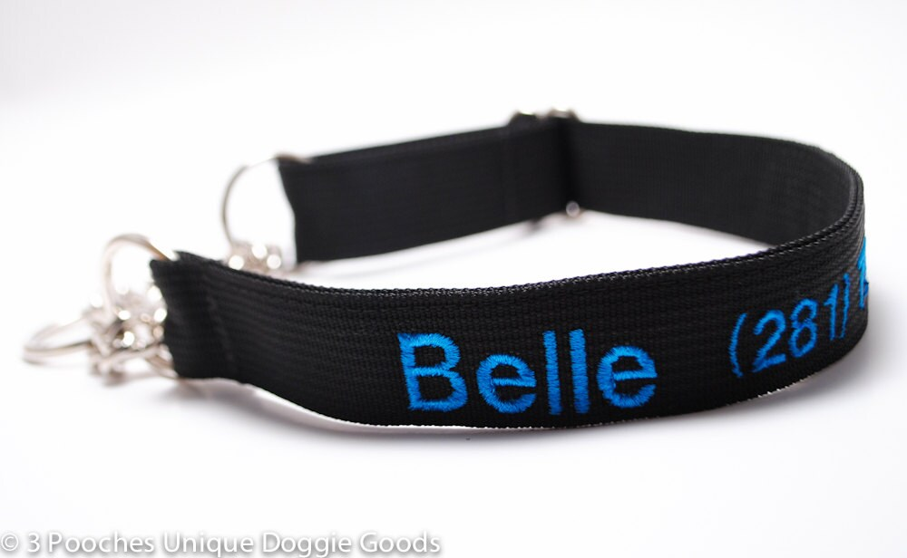 Martingale Dog Collars With Name And Phone Number