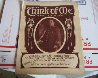 1915  sheet music (  think of me  )
