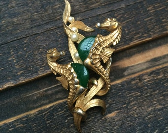 Magnificent Marcel Boucher Seahorse Brooch in HTF Color