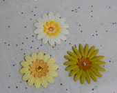 Natural Neutrals colored Flowers...Set of 3