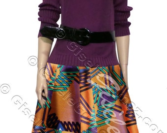 African Maxi Skirt | side pockets | Avogba IN Cotton Dutch Java | Jupe Africaine en Pagne | Installment Payment  | Made in USA