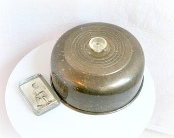 50s Chrome Cake Dome Lid with Clear Plastic Knob