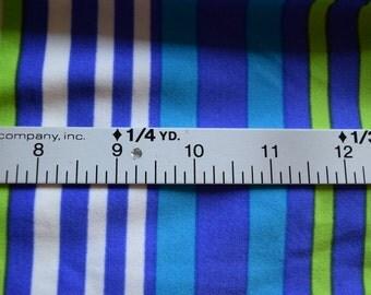 1 yard  Blue/White/Green Swim Fabric