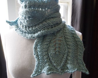 Scarf Knitting Pattern - Kale