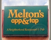 Melton's App & Tap, Decatur, Georgia. Landmark Marble Stone Coaster. Mix and Match With My Other Coasters To Make A Set