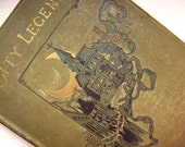 Hand Bound Art Journal - Vintage Book Cover OOAK Sketchbook or Diary - City Legends Edition
