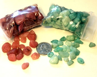 NEW colors of Small stones-Fairy Garden Paths-Pink stone-Aqua stones