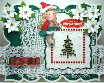 Tilda on the Roof Christmas Card