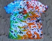 Cosmic Starfield III Scrunch Tie Dye V-neck T-Shirt (Bella Canvas Size 2XL) (One of a Kind)