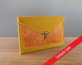 iPad Mini case with a pocket - mustard tweed