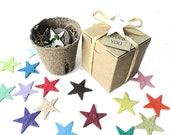 Star Birthday Party Favors Girls & Boys - 25 Star Shaped Seed Paper Garden Kits - Fun Kids Birthday Party Favor in Plantable Star Shapes
