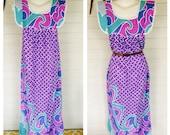 Vintage 70s 80s hippie maxi dress