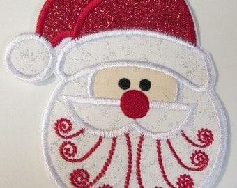 Christmas Santa - Iron On Appliques