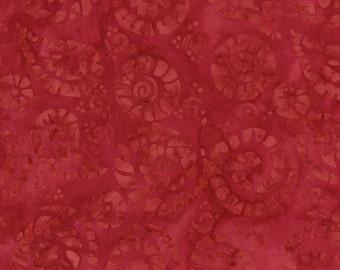 Crimson Red Leaves Tonga Batik Fabric - Timeless Treasures - B2177