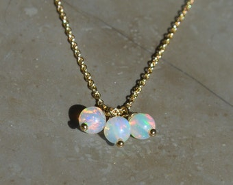 Ethiopian Opal Tiny Ball Necklace