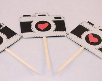 Photographers Birthday Party Camera cupcake toppers (6)