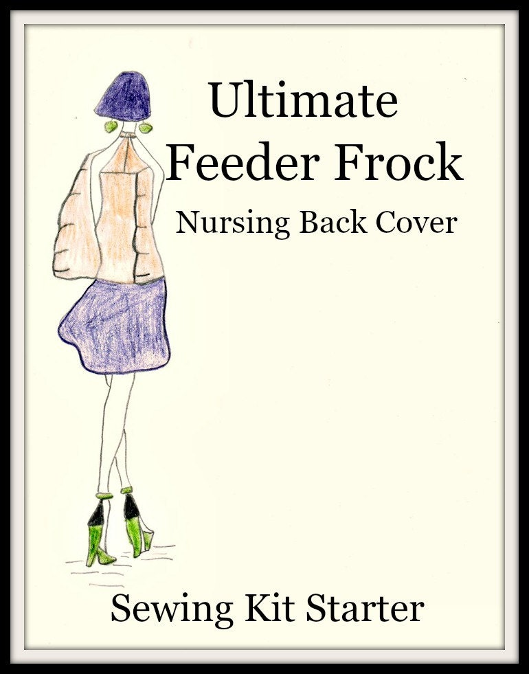 Book Cover Sewing Kits ~ Nursing cover sewing kit designer starter pre cut