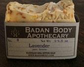 Badan Organic Lavender Shea Butter Soap Bar - Soothing Shea Butter Bar Soap - Face Soap
