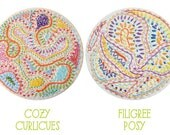 Embroidery Pattern Set: Cozy Curlicues and Filigree Posy PDF