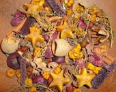 Primitive Star Potpourri with organic beeswax star ornaments spices berries pods flowers herbs scented your choice fragrance