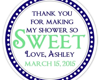 Sweet Treat Favor Label, Baby Shower, Bridal Shower Favor Stickers, So Sweet Stickers