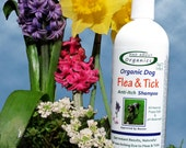 Organic Flea and Tick Shampoo Formulated for Dogs 16oz