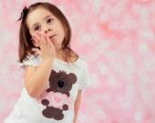 XOX Teddy Bear Applique Valentines Day Shirt, Valentine Bear Shirt, Hug Me, Love You, XOXO Valentines Appliqued Shirt, Heart Shirt, LDM