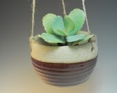 Hanging Planter - Ceramic Plant pot- Handmade brick Red - Wheel Thrown - One of a Kind
