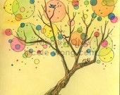 Original 5x7 Painting -- Magic Tree