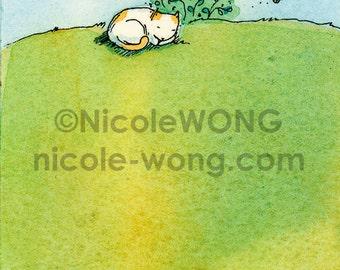 ACEO Print -- Nap Outside