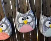 Personal Use PDF PATTERN and INSTRUCTIONS for Little Girl Owl Crossbody Purse