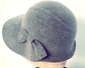 gray fur felt hat