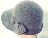 gray fur felt hat