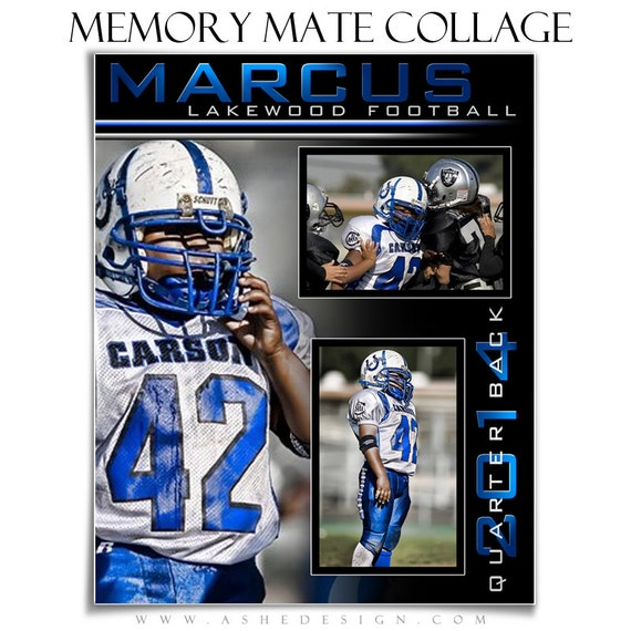 Sports memory mate streak of light 2 8x10 hz vt by for Sports team photography templates