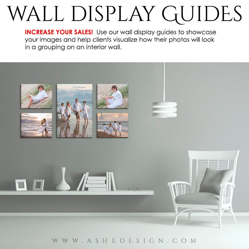 photoshop room templates - photography wall display guide simply white family room