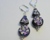 Floral Glass Earrings  E1360
