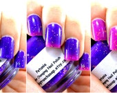 "Color Changing Nail Polish-Purple/Pink-""Petunia""-Temperature Changing - 0.5 oz Full Sized Bottle"