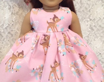 "Disney Bambi & Thumper * Doll Dress fits 15"" - 18"" American Girl or Bitty Baby - sewnbyrachel"