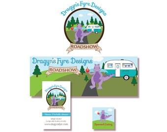 Custom Logo Package - Website Branding Package - Custom Logo Design, Business Card Design and Banner or Header Design with Avatar