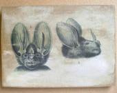 Bat Heads #4&5 5x7 art tile